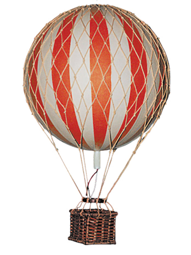 Red & White Authentic Models Floating The Skies Hot Air Balloon Gift - Small