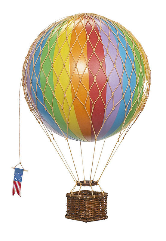 Rainbow Coloured Authentic Models Travels Light Hot Air Balloon - Medium