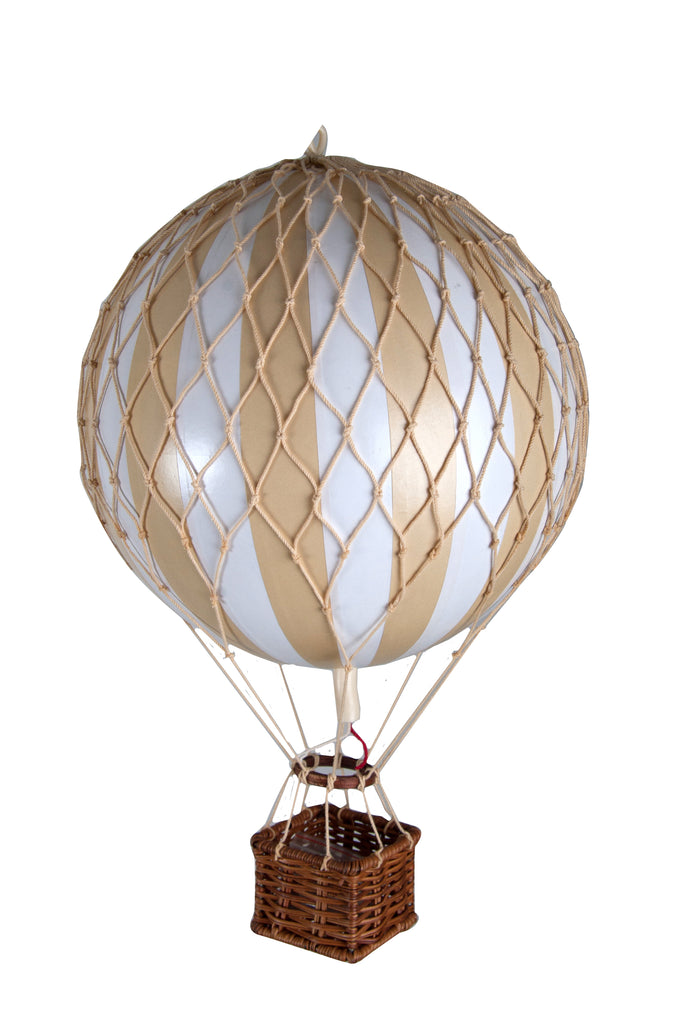 White Stripe Authentic Models Travels Light Hot Air Balloon - Medium