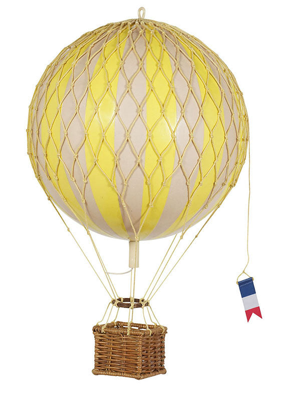 Yellow Authentic Models Travels Light Hot Air Balloon - Medium