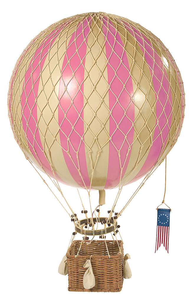Pink Authentic Models Travels Light Hot Air Balloon - Medium Nursery Inspo Ideas