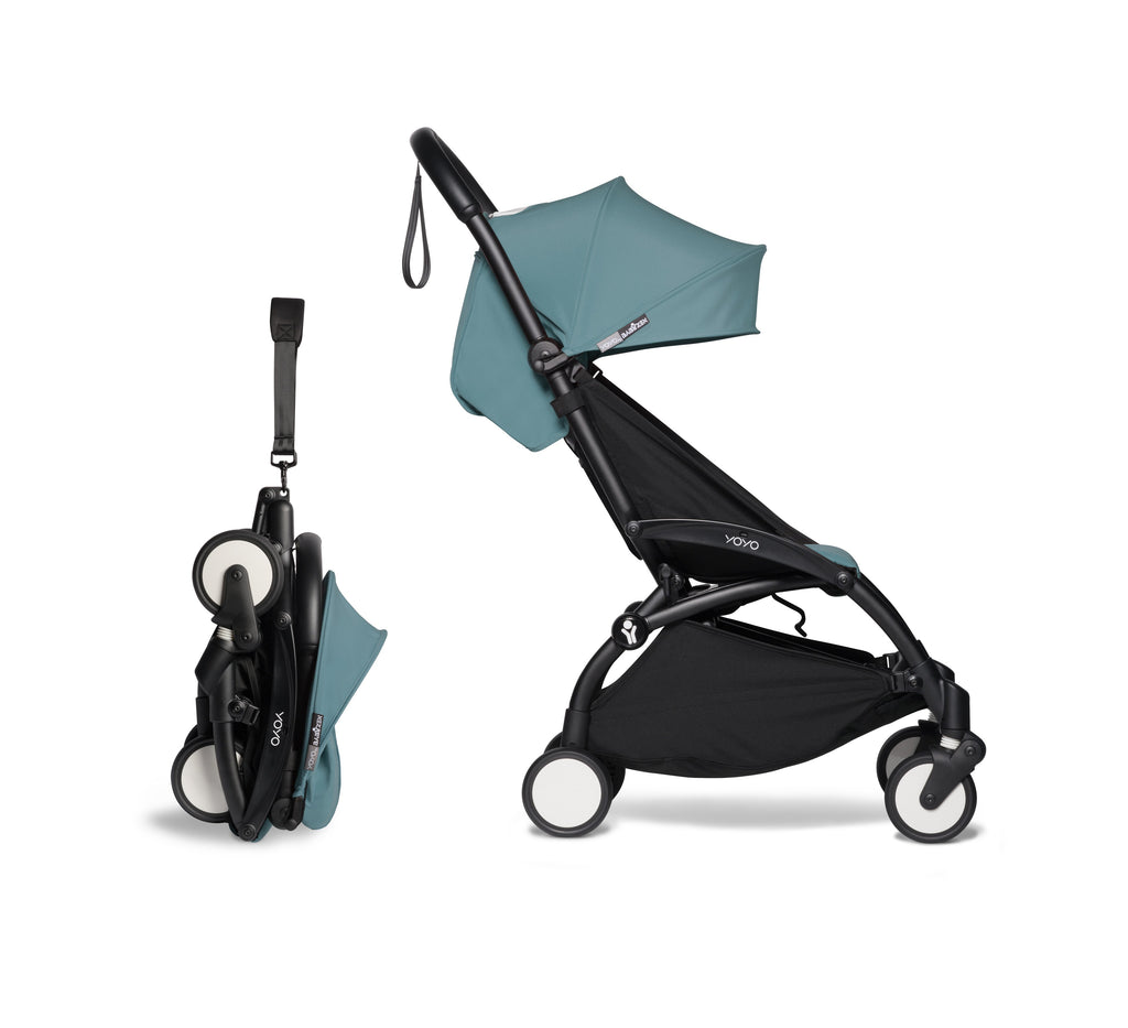 BABYZEN YOYO² Complete Stroller - Aqua - Fold Up - The Baby Service