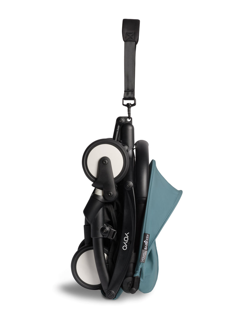 BABYZEN YOYO² Complete Stroller - Aqua - Folded Up - The Baby Service