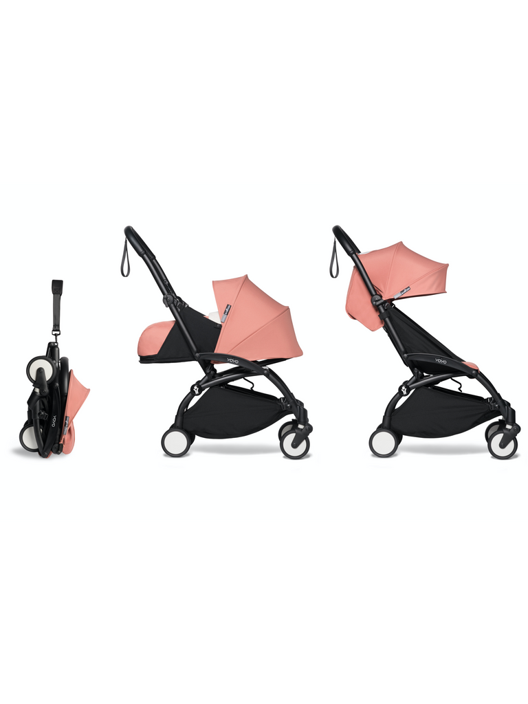 BABYZEN YOYO² Complete Stroller - Ginger - Black Frame - The Baby Service
