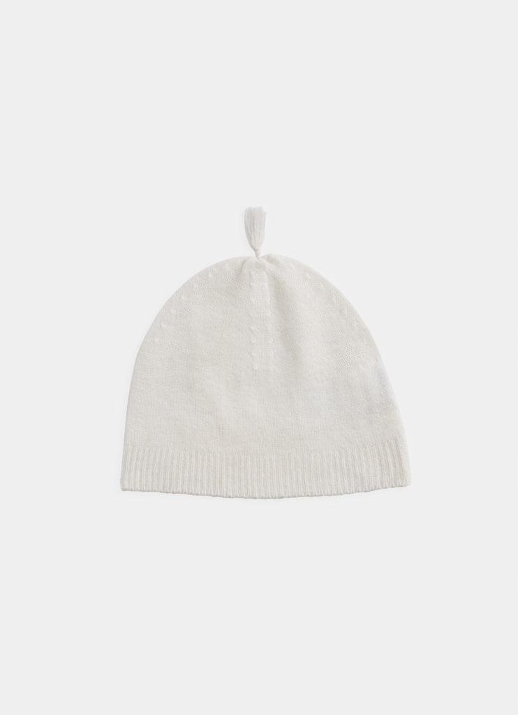 Belle Enfant, Cashmere Tassel Hat - Snow White