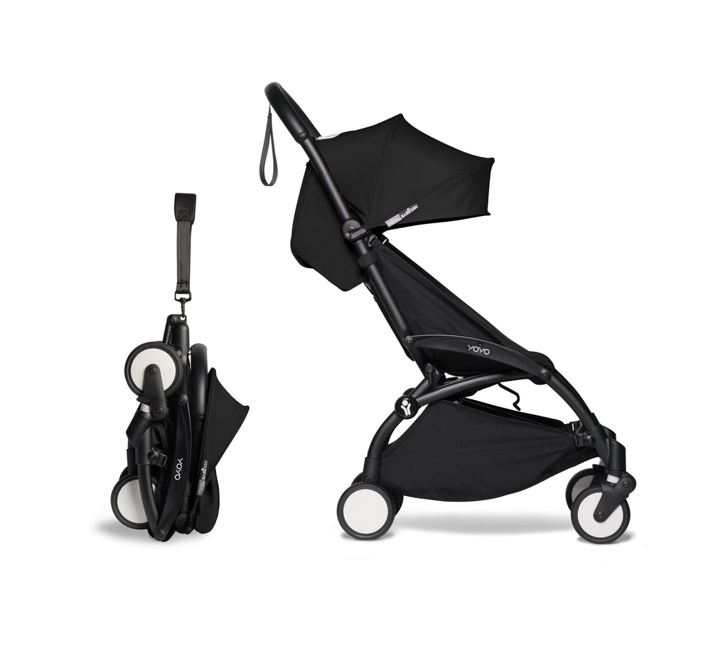 BABYZEN YOYO² Stroller - Black Collapsed View - Pushchairs - The Baby Service