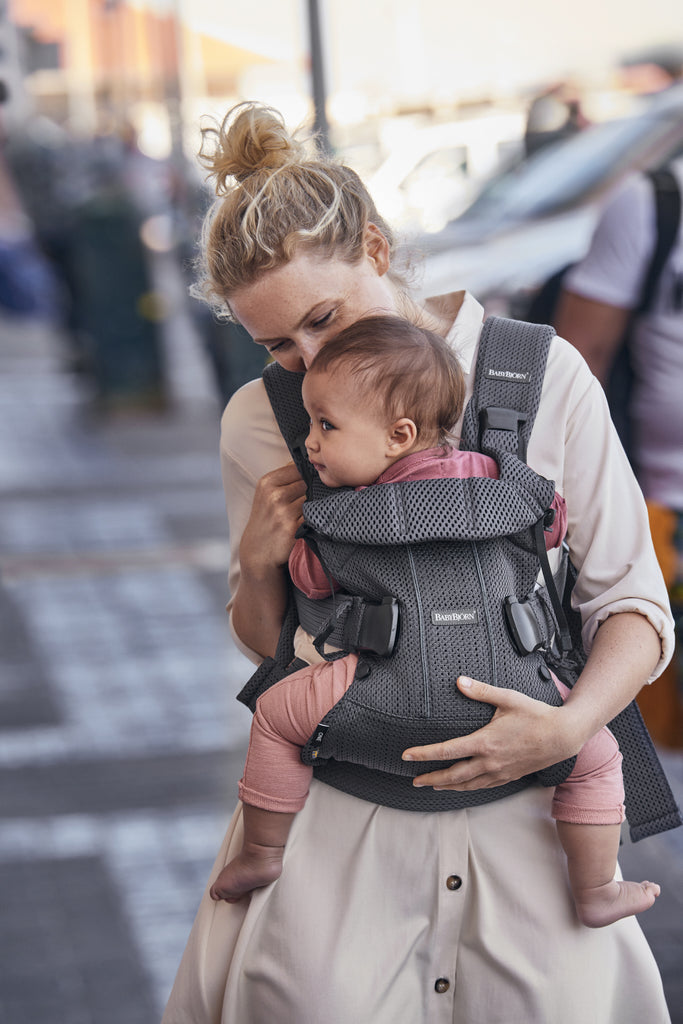 BabyBjorn Baby Carrier One Air - Anthracite 3D Mesh - The Baby Service - Lifestyle