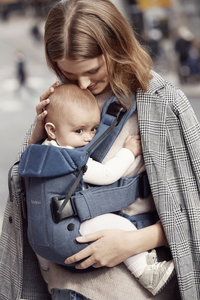 BabyBjorn Baby Carrier One - Classic Denim / Midnight Blue Cotton Mix - The Baby Service Lifestyle