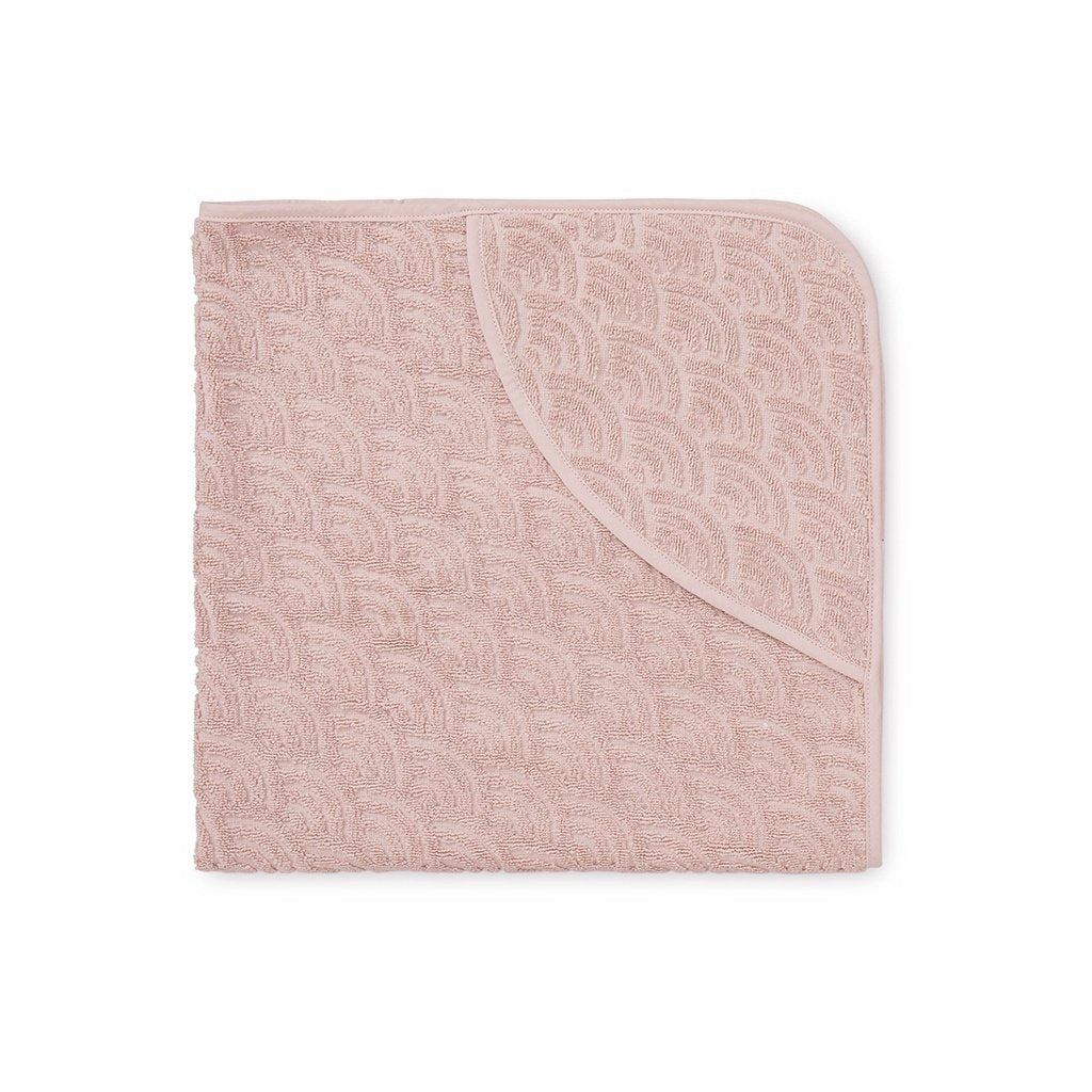 Cam Cam Copenhagen Baby Hooded Soft Towel in Blossom Pink