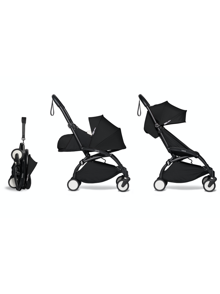BABYZEN YOYO² Complete Stroller - Black - Travel Pushchair - The Baby Service