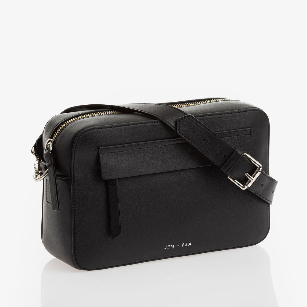 Jem + Bea Cara Crossbody Black - Luxury Baby Changing Bag