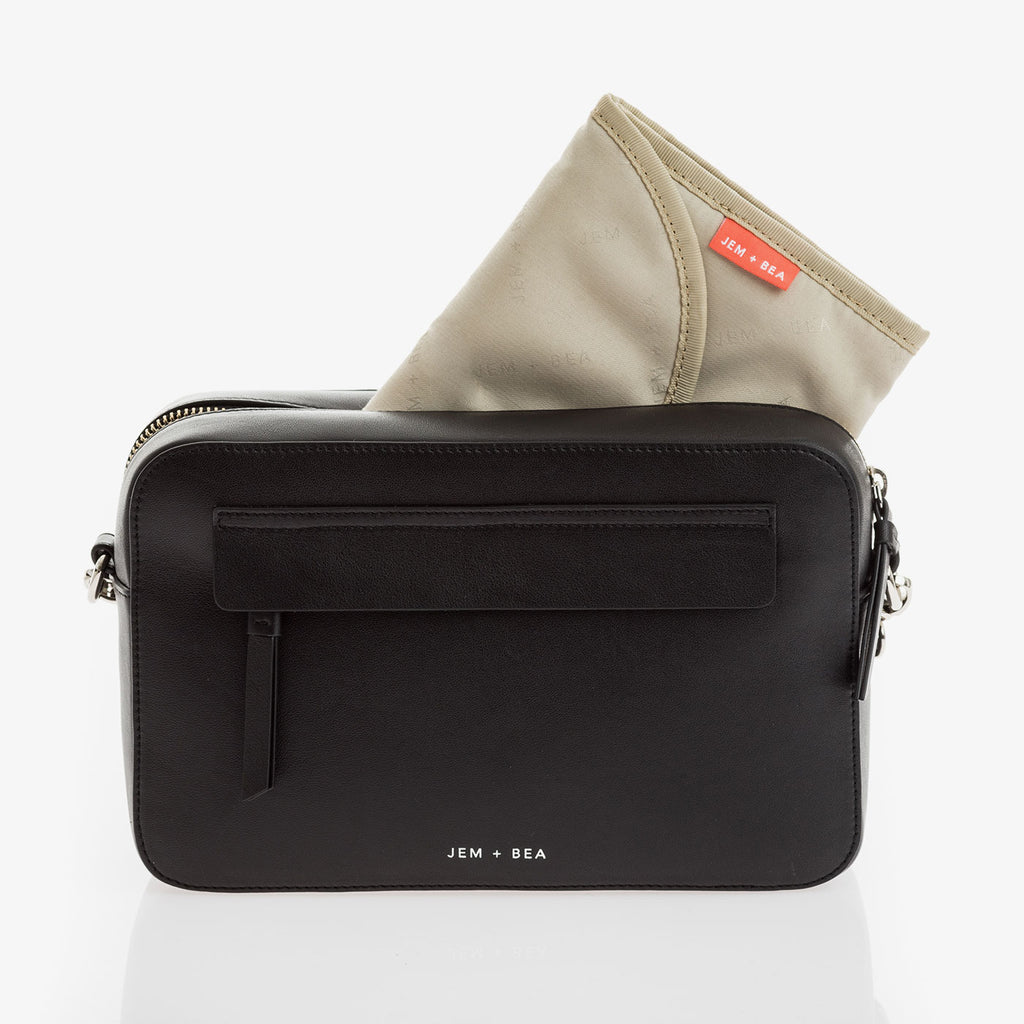 Jem + Bea Cara Crossbody Black - Nappy Bag - The Baby Service