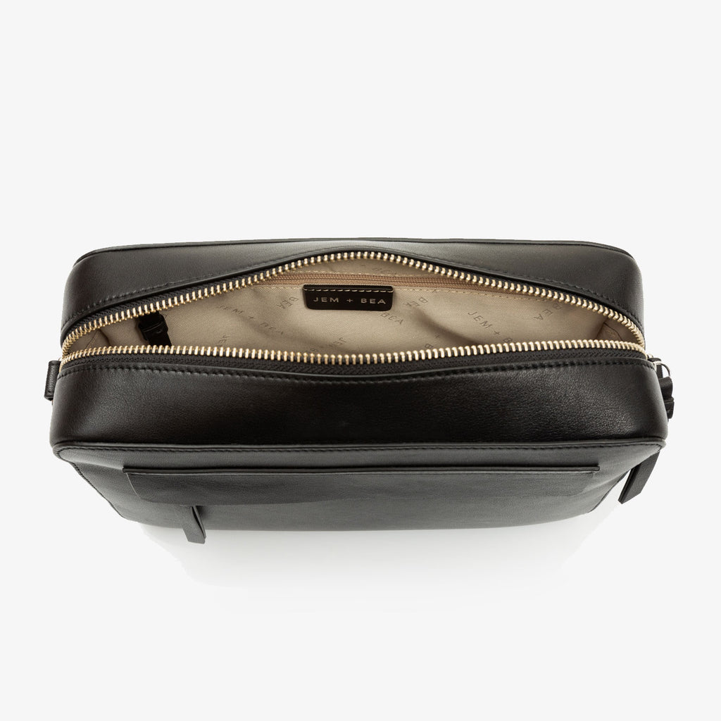 Jem + Bea Cara Crossbody Black - Luxury Bags