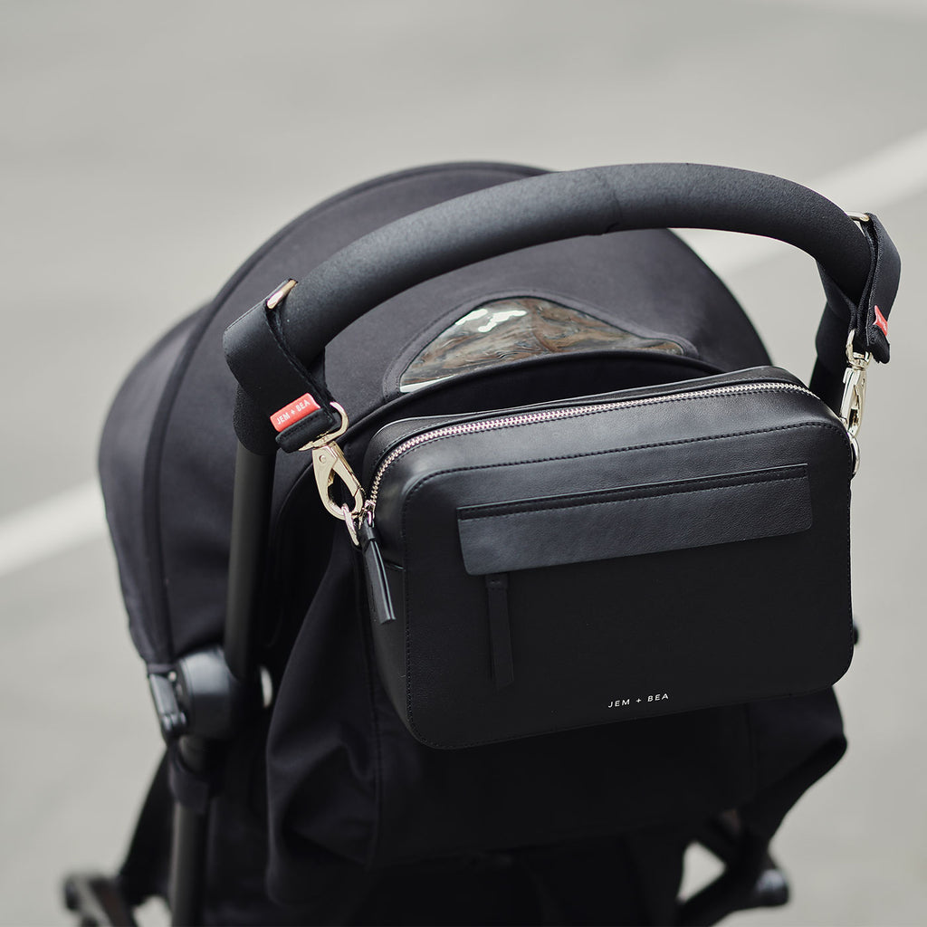 Jem + Bea Cara Crossbody Black - Baby Bag - The Baby Service