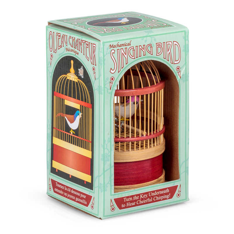 Boxed Mechanical Singing Bird Classic Toy
