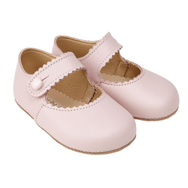 Pink Soft Leather Pre Walkers Luxury Baby Early Days Pram Shoes