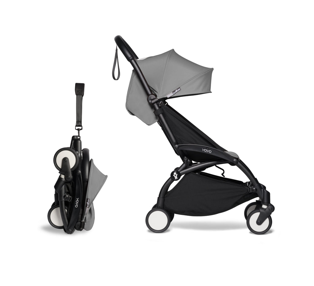 BABYZEN YOYO² Complete Stroller - Grey - Compacted - The Baby Service