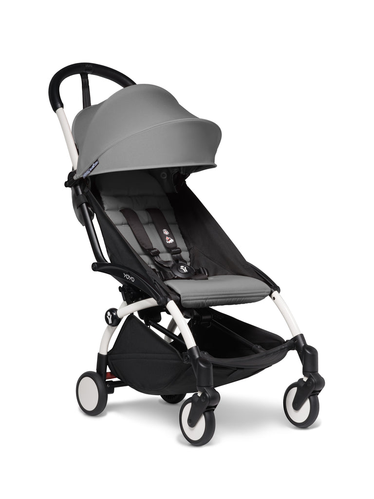 BABYZEN YOYO² Stroller - Grey - Pushchair - The Baby Service - White Frame