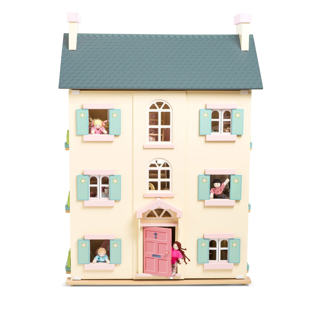 Wooden Le Toy Van Cherry Tree Hall Dolls House Set