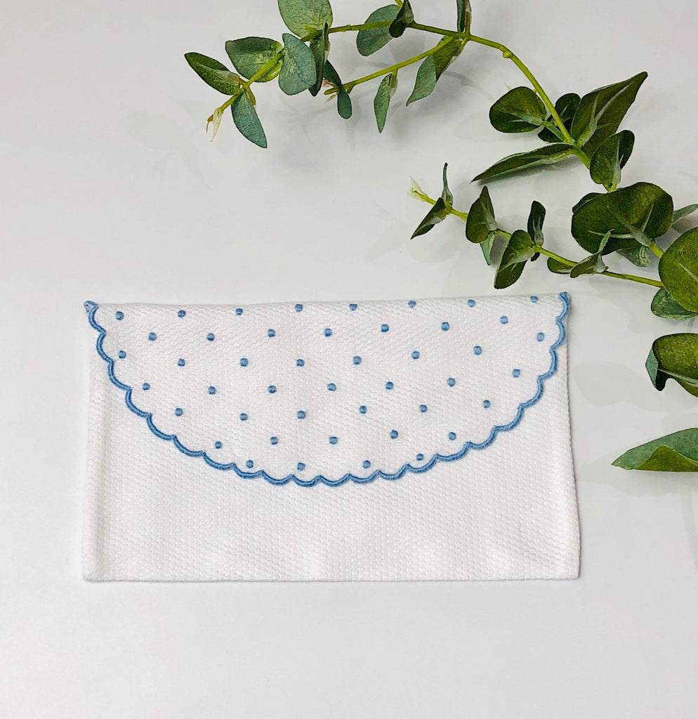 Baby's First Embroidered Document Holder, Blue