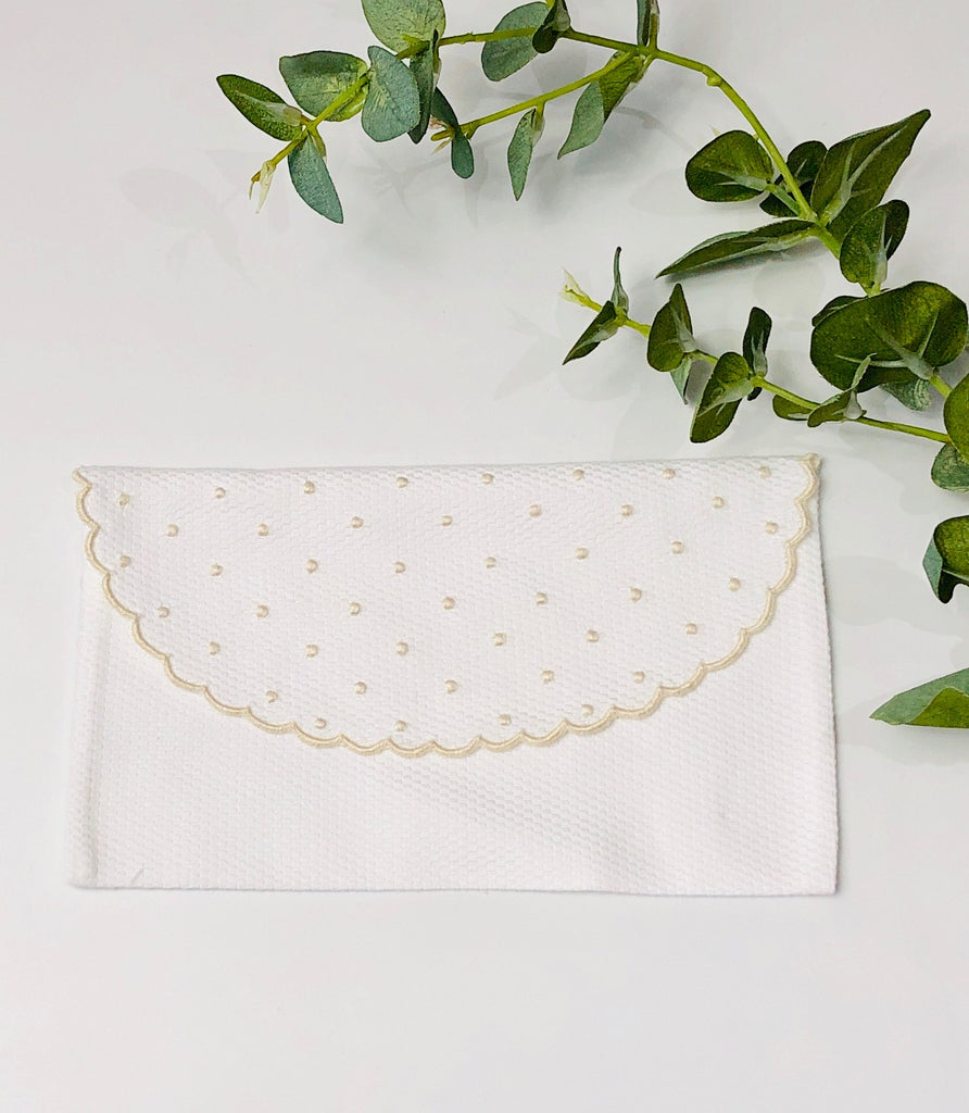 Baby's First Embroidered Document Holder, Beige