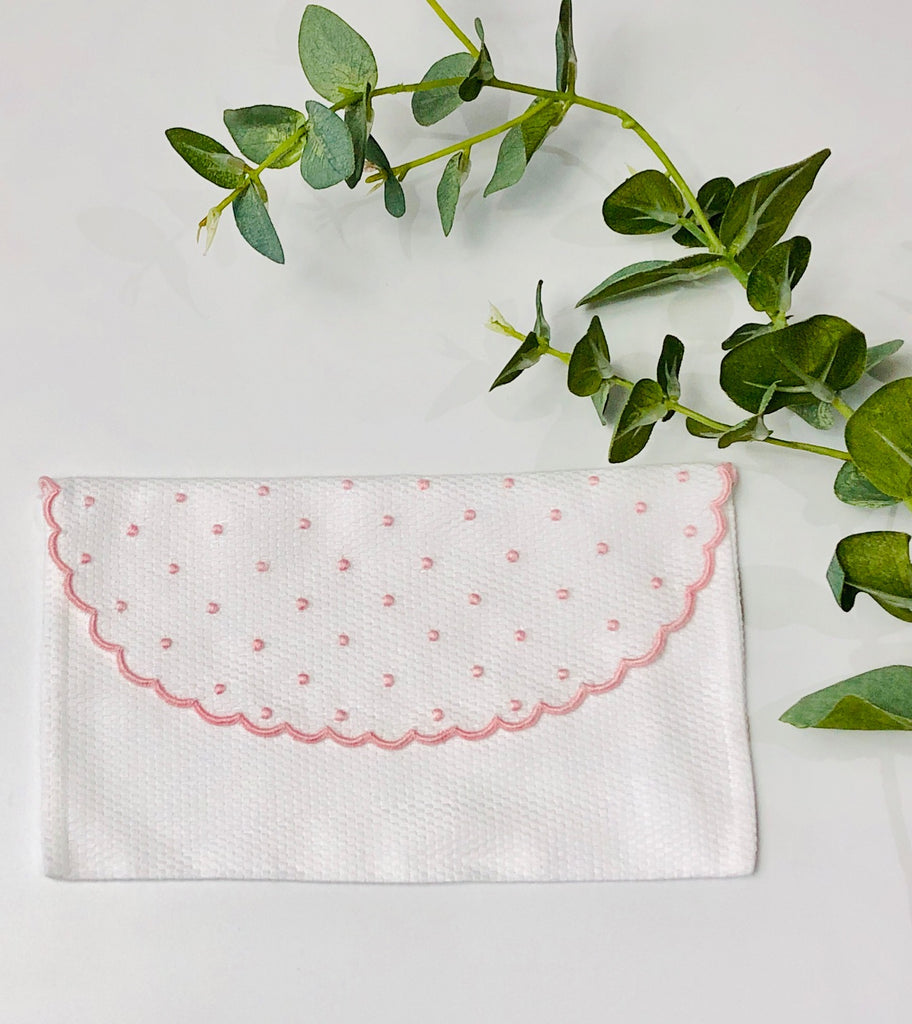 Baby's First Embroidered Document Holder, Pink