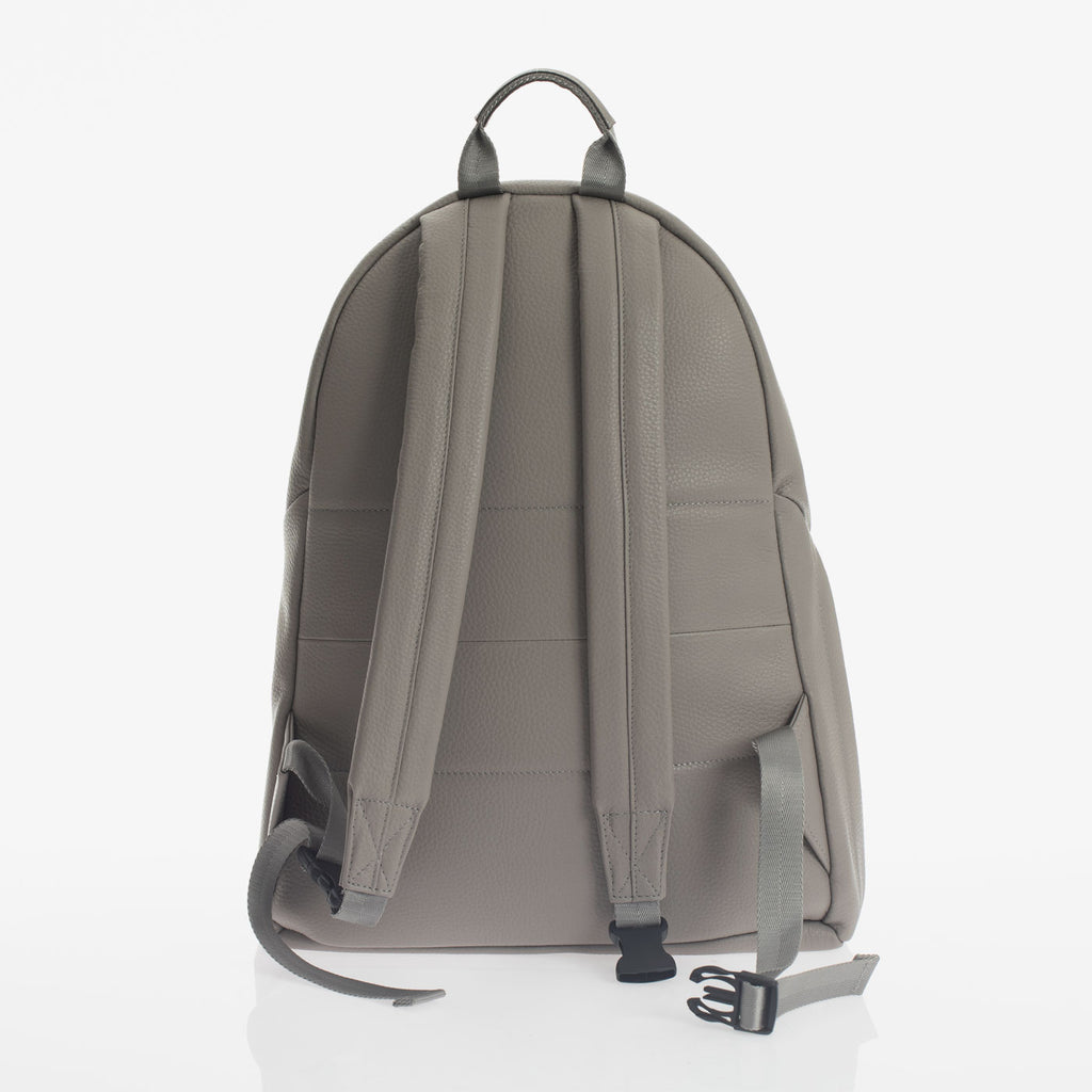 Jem + Bea Jamie Leather Backpack Grey - Baby Newborn Bag