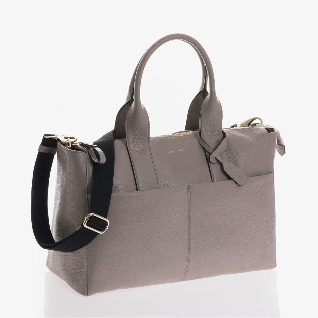 Jem + Bea Jemima Grey Bag - Luxury Baby Changing Bag - The Baby Service