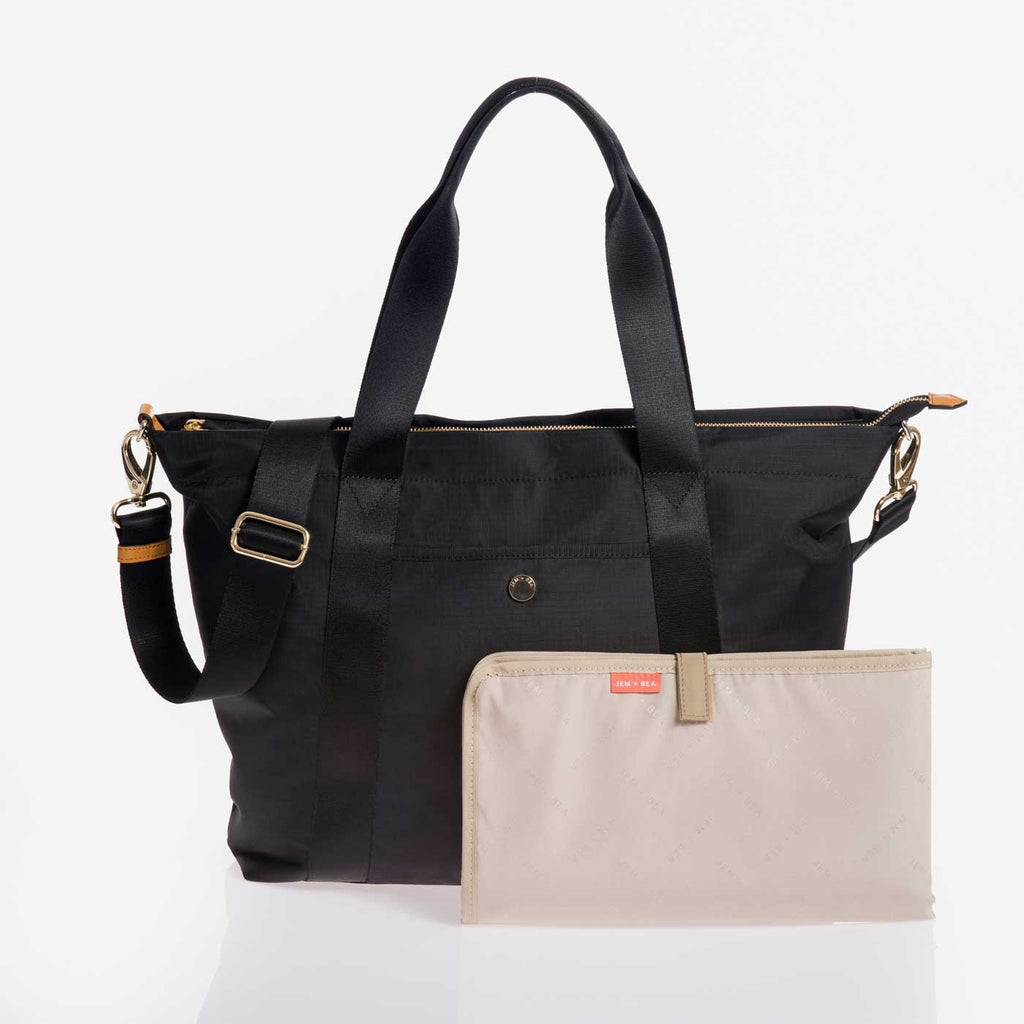 Jem + Bea Lola Black Bag - Luxury Baby Bag - The Baby Service
