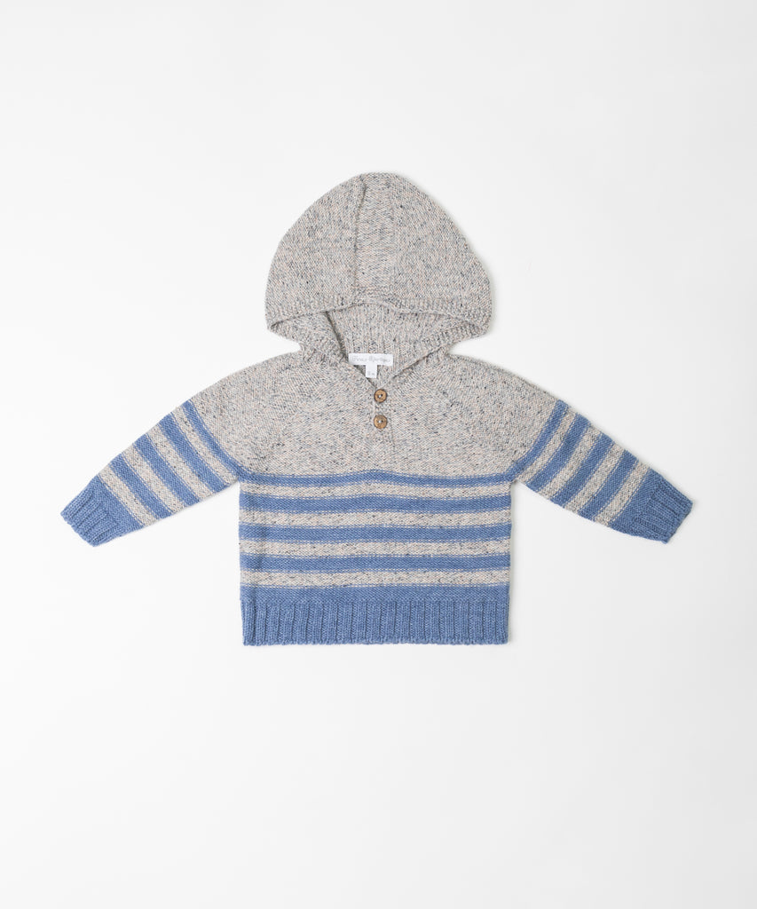 Fina Ejerique - Boys Hooded Stripe Jumper - The Baby Service