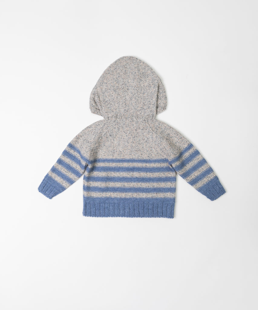 Fina Ejerique - Boys Hooded Stripe Jumper - Luxury Clothing - The Baby Service