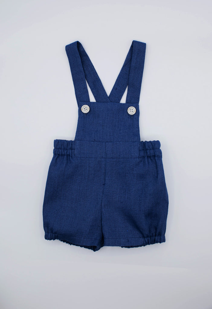 Fina Ejerique - Poplin Body Shirt & Navy Blue Linen Shorts Set - The Baby Service