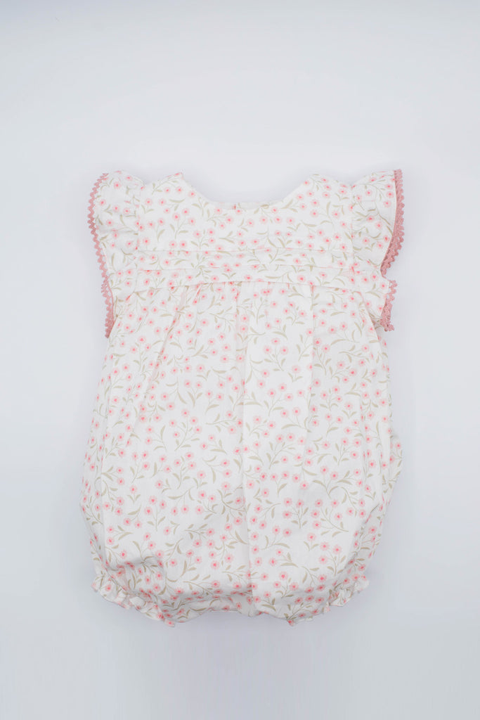 Fina Ejerique - Pink Floral Cotton Romper - The Baby Service