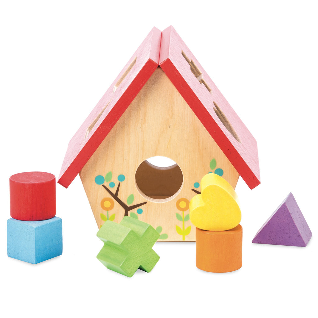 Wooden Le Toy Van My Little Bird House Shape Sorter