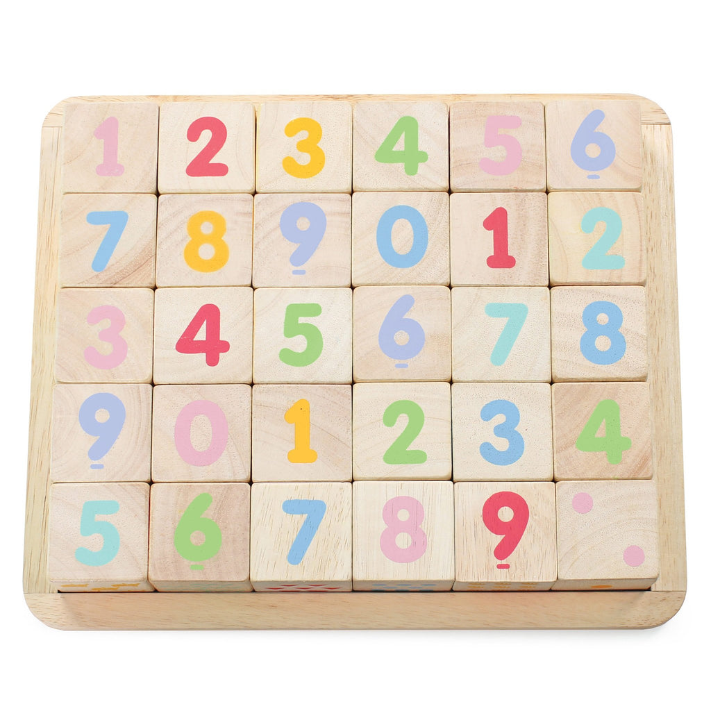 Le Toy Van ABC Wooden Number Building Blocks