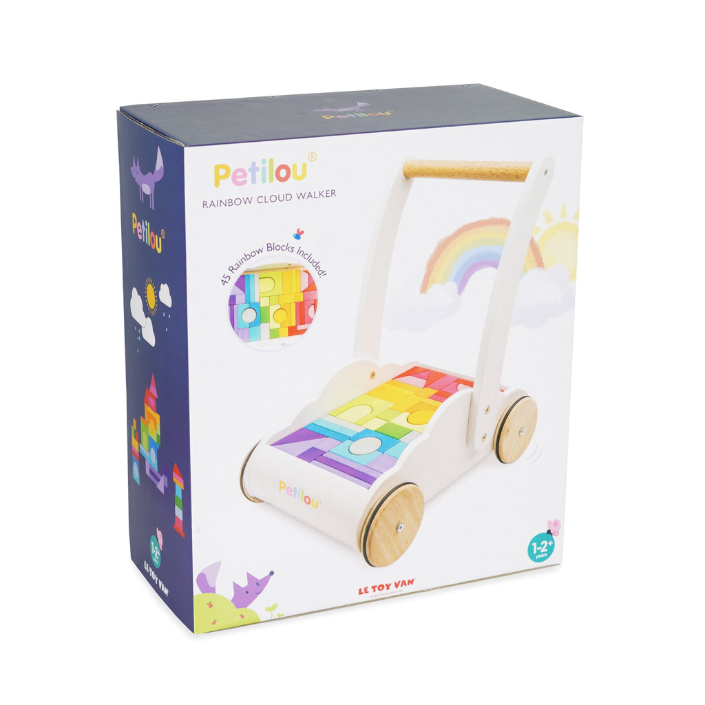 Le Toy Van Rainbow Cloud Walker Building Blocks Boxed