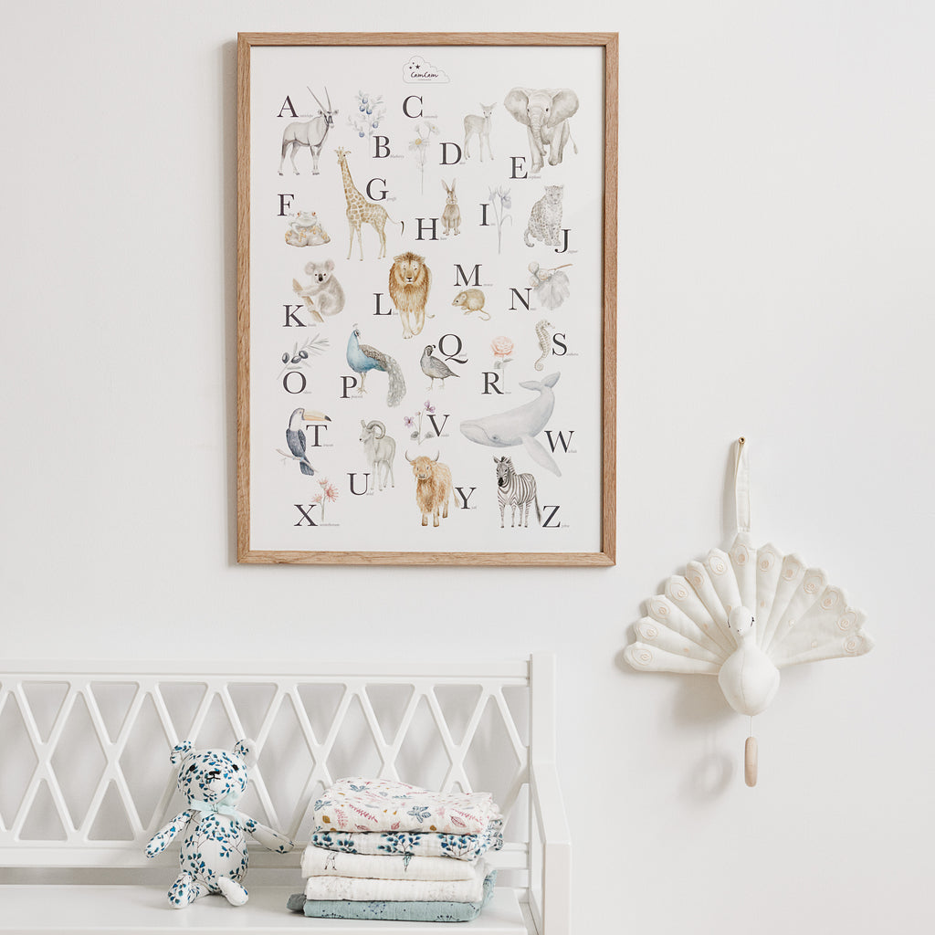 Cam Cam Copenhagen  Alphabet Poster - Nursery Room Decor Design Ideas - The Baby Service