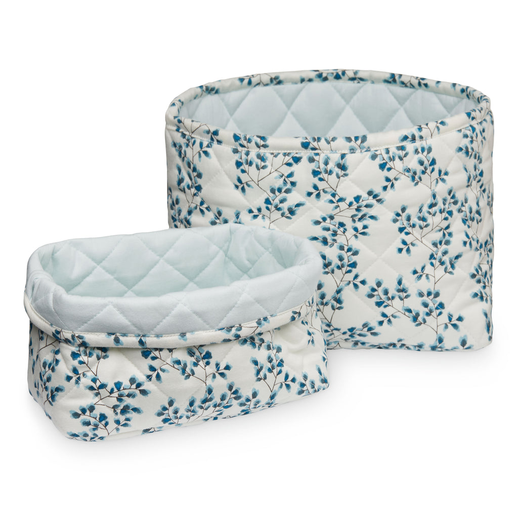 Cam Cam Quilted Storage Basket - Set of Two - Fiori - The Baby Service