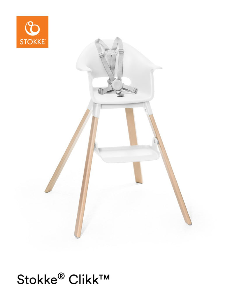 Stokke Clikk Highchair - White Baby Chair - The Baby Service