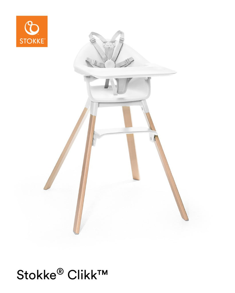 Stokke Clikk Highchair - White Feeding Chair - The Baby Service
