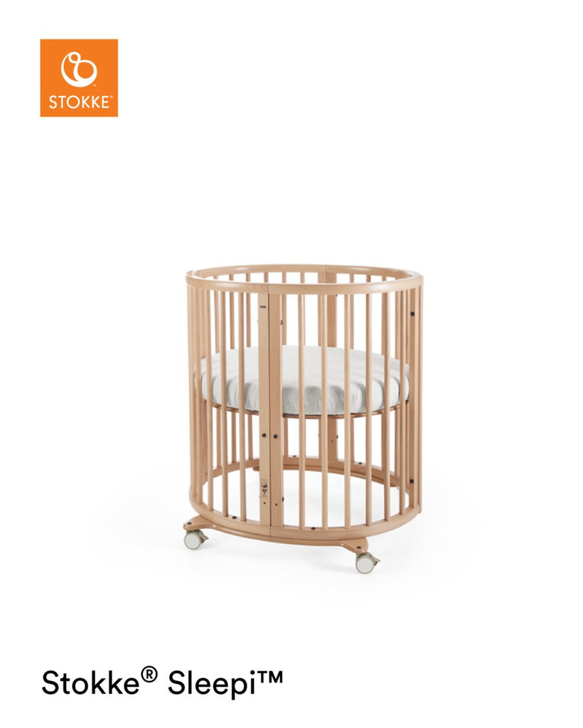Stokke Sleepi Mini Crib with Mattress - Natural Cot Crib - The Baby Service