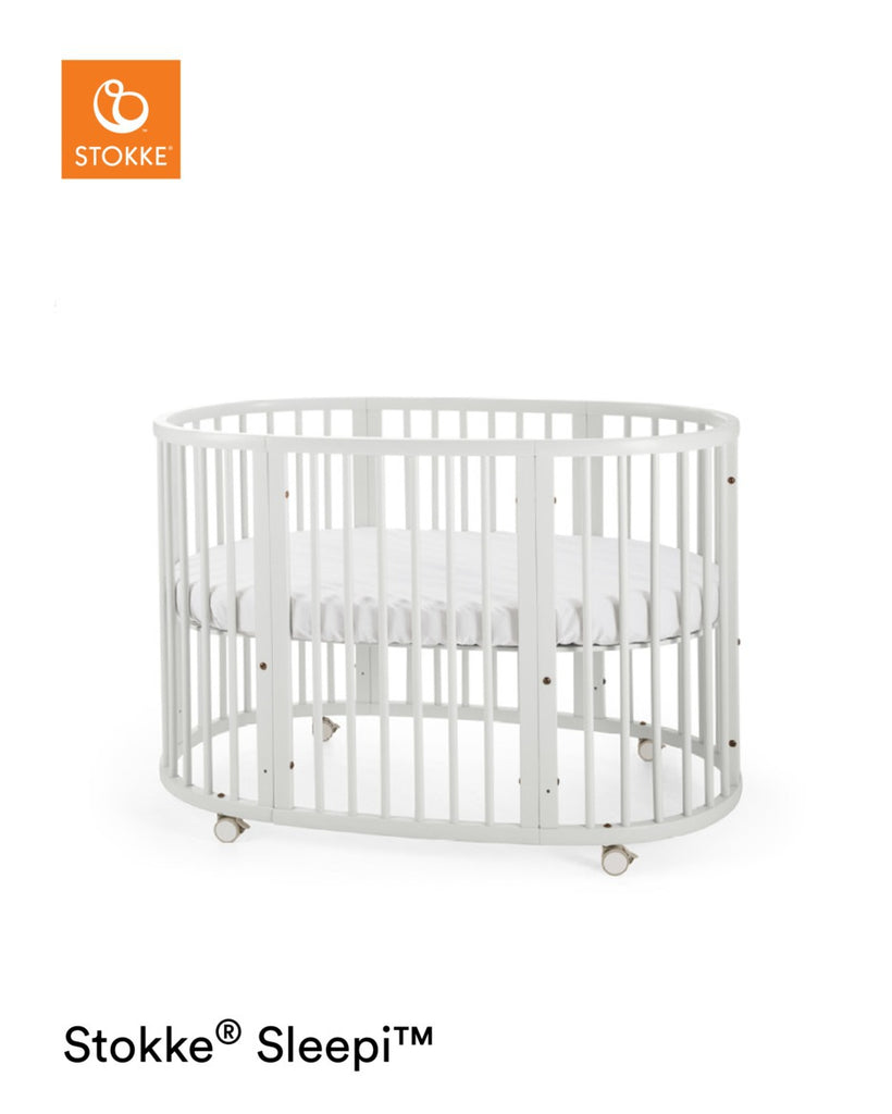 Stokke Sleepi Bed with Mattress - White - Cot Bed - The Baby Service