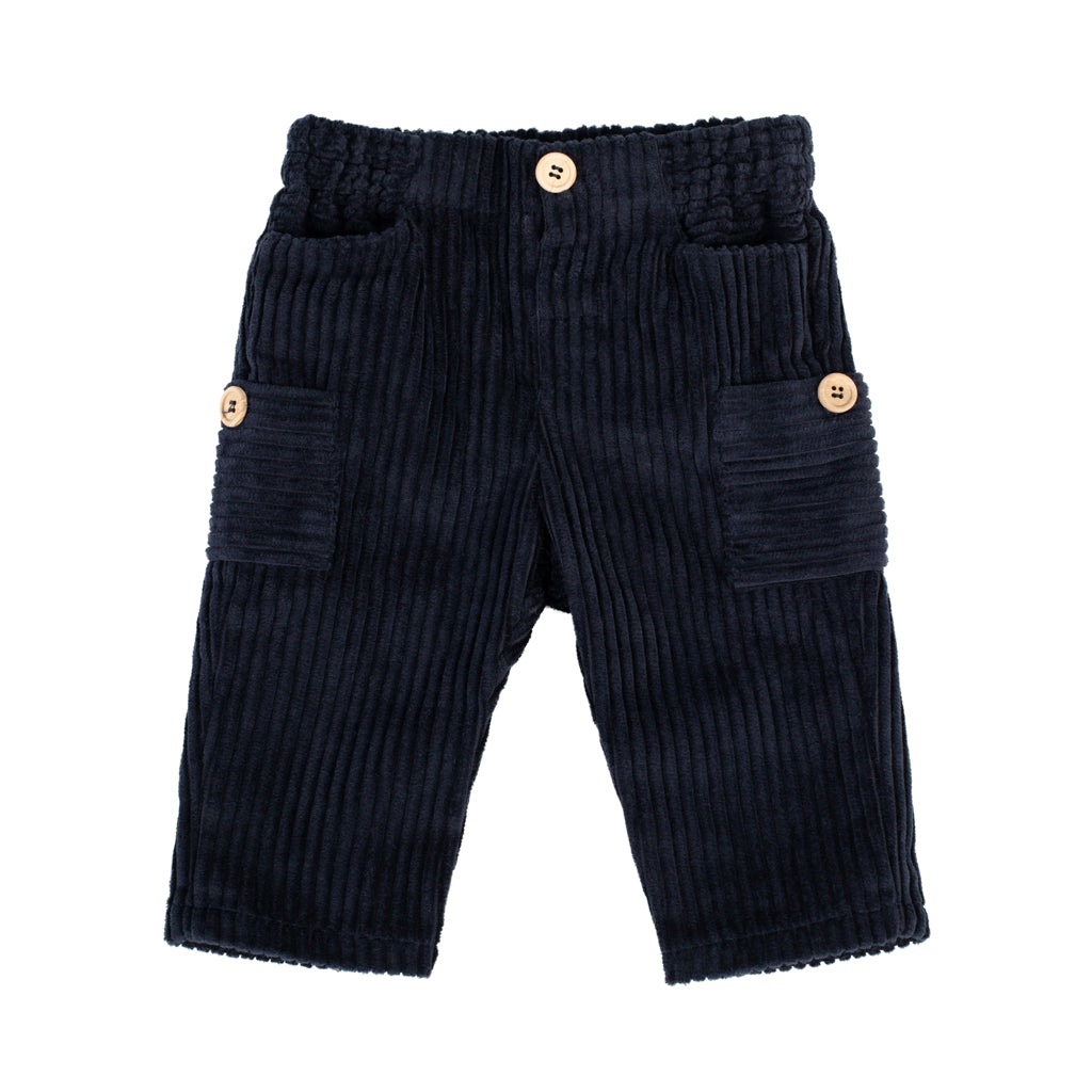 Fina Ejerique - Side Pocket Corduroy Navy Trousers - Boys Clothing - The Baby Service