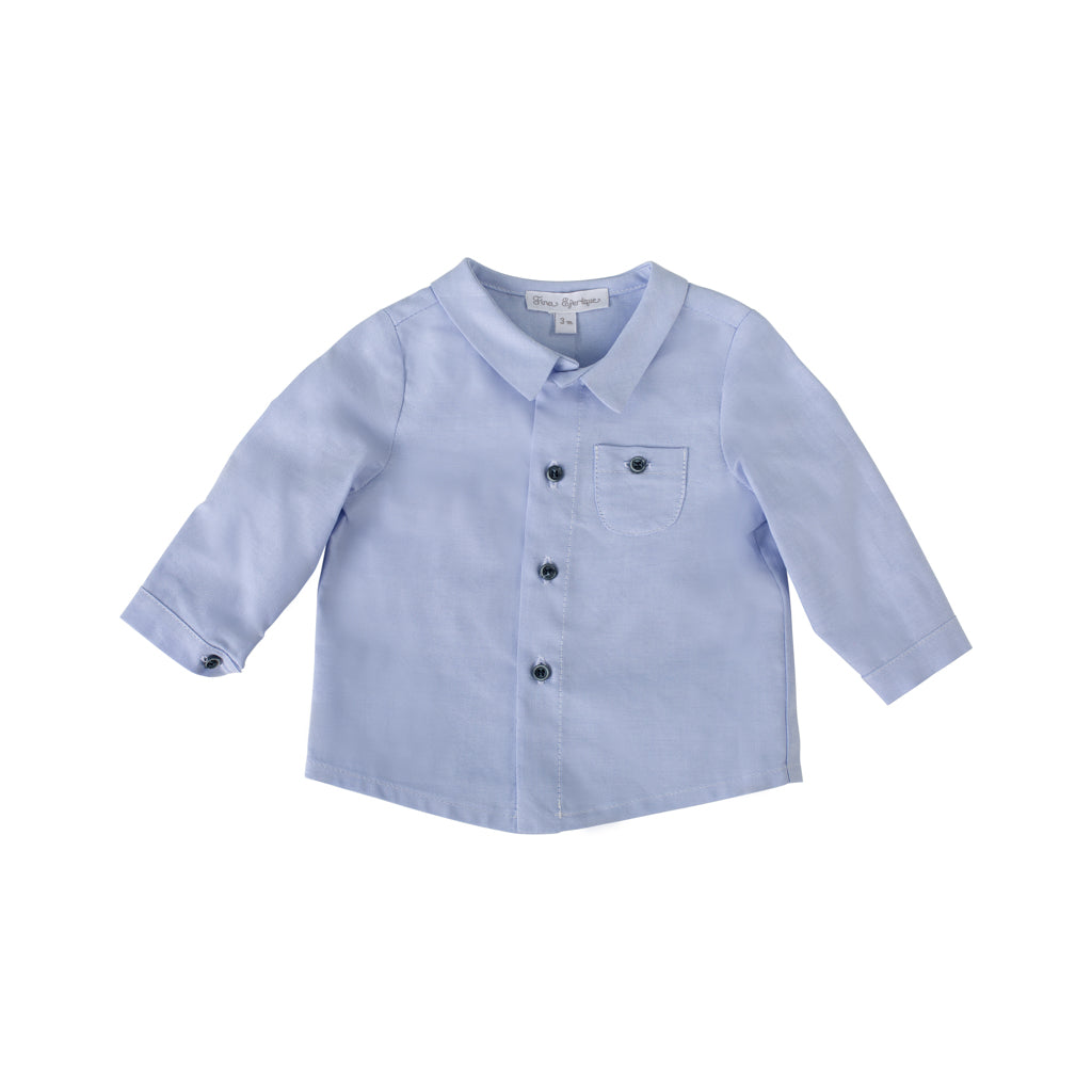 Fina Ejerique  - Boys Blue Cotton Shirt - The Baby Service
