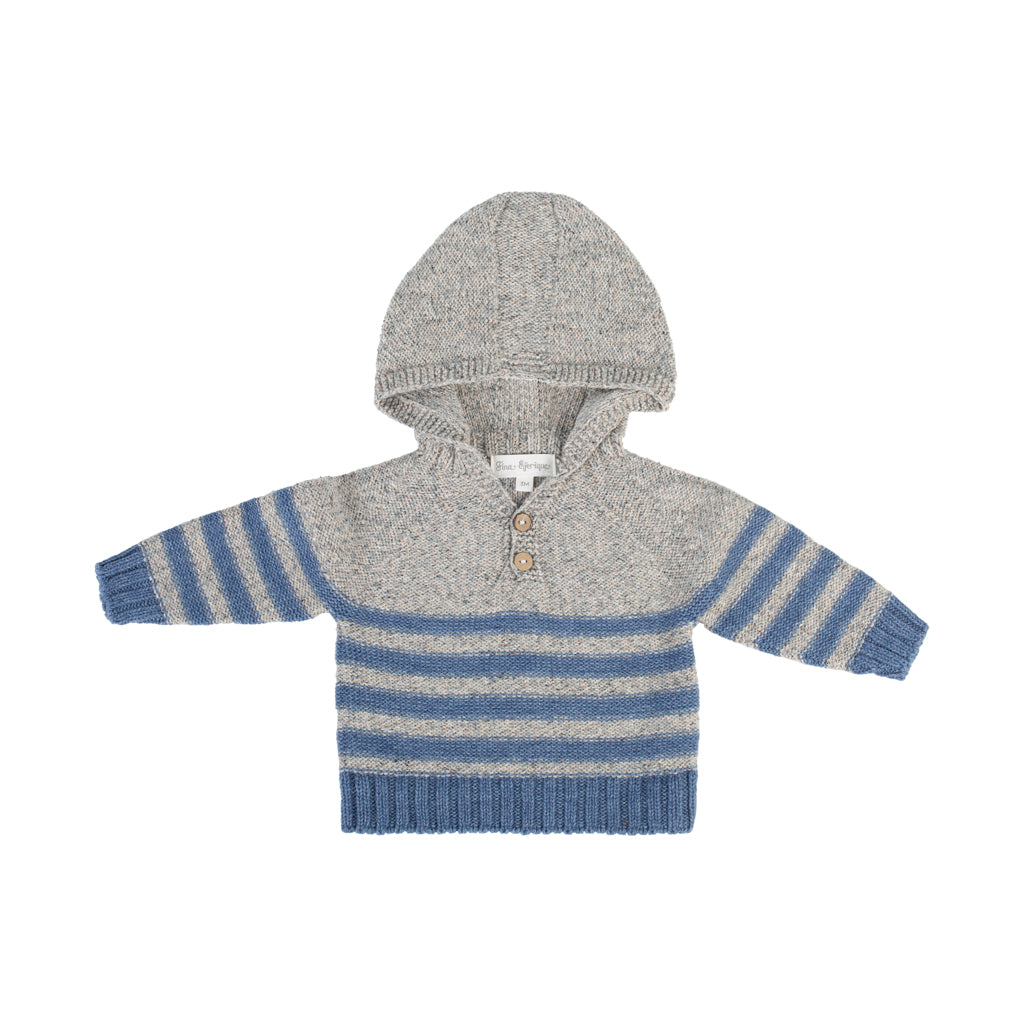 Fina Ejerique - Boys Hooded Stripe Jumper - Boys Clothing - The Baby Service