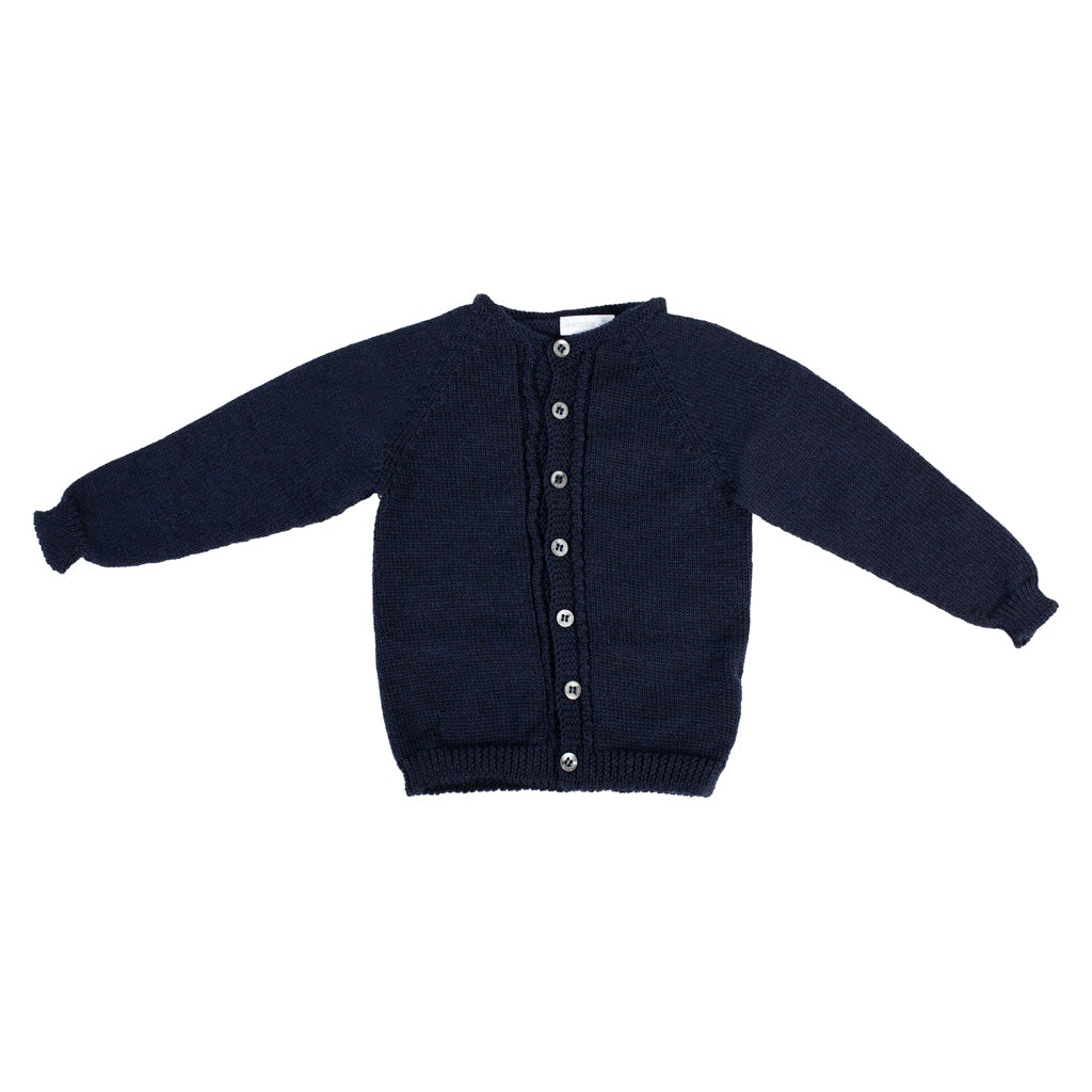 Wedoble - Navy Wool Cardigan