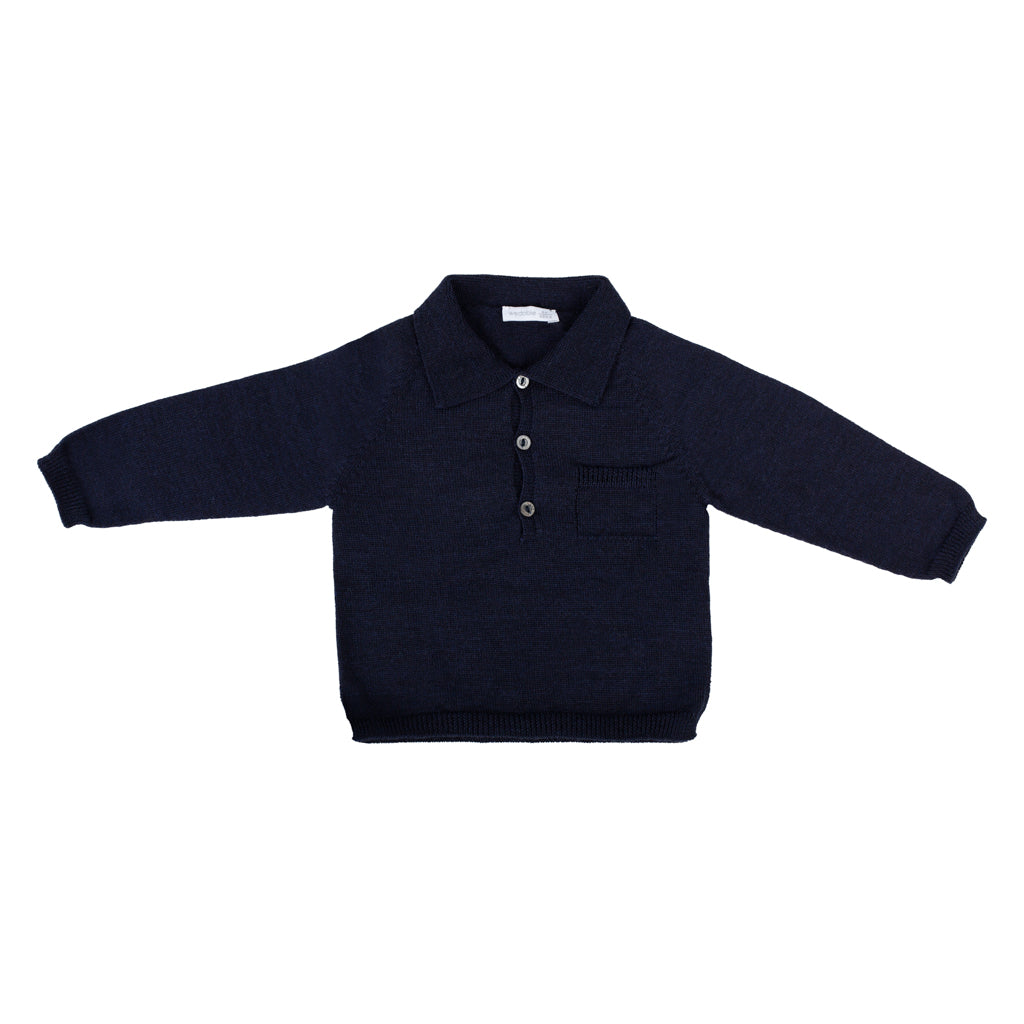 Wedoble - Knitted Navy Sweater