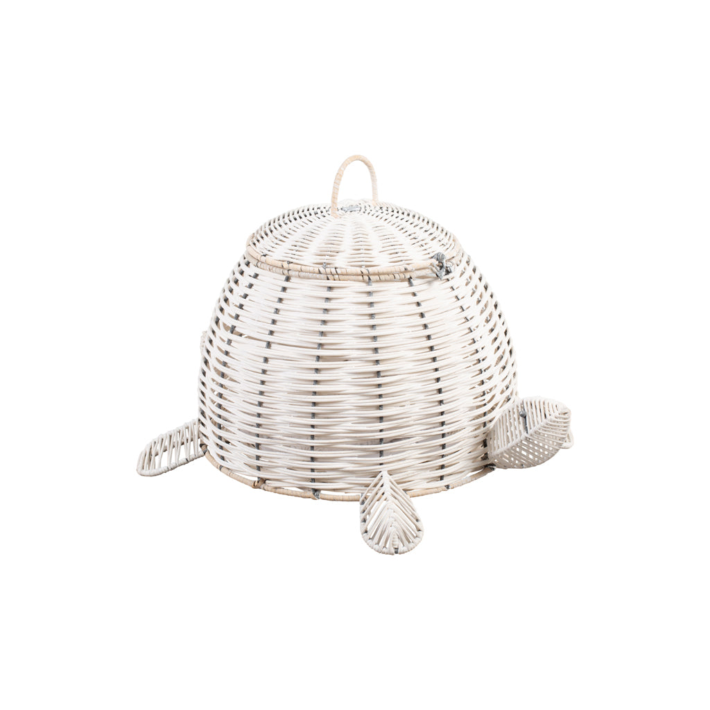 White Rattan Turtle Basket - The Baby Service