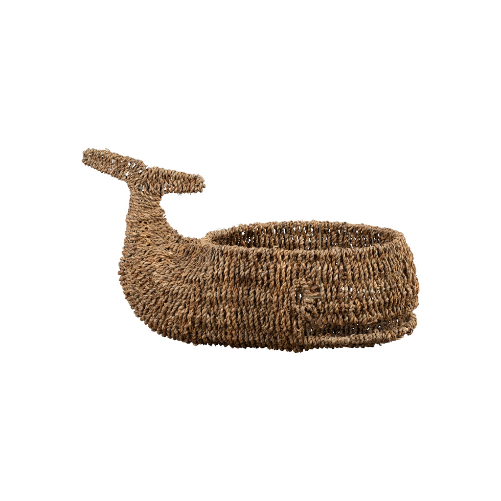 Whale Sea Grass Basket - Nursery Organisers - The Baby Service