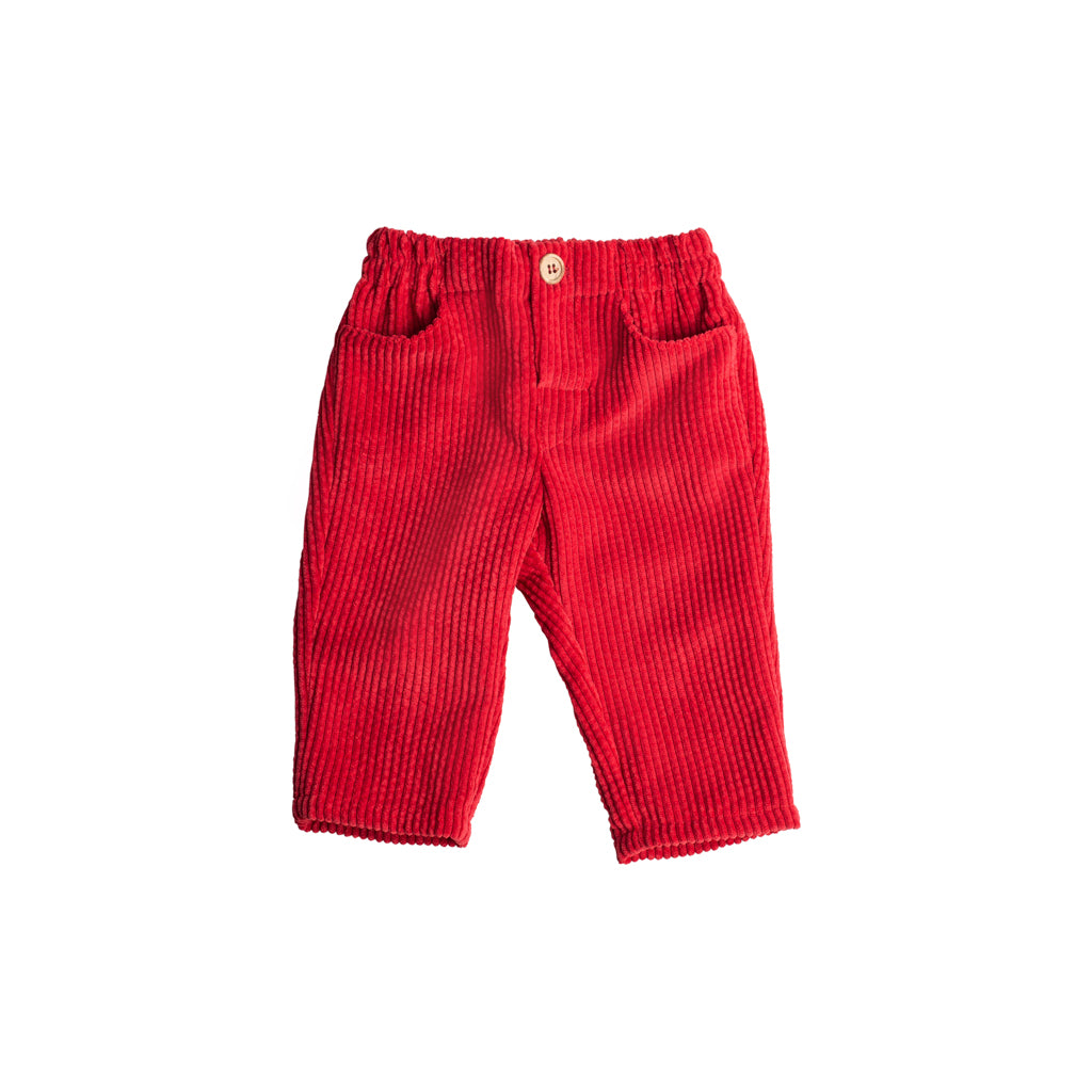 Fina Ejerique - Corduroy Red Trousers - Boys Clothing - The Baby Service